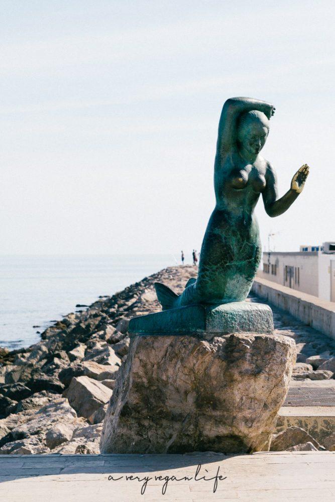 Wahrzeichen von Sitges, eine Meerjungfrau