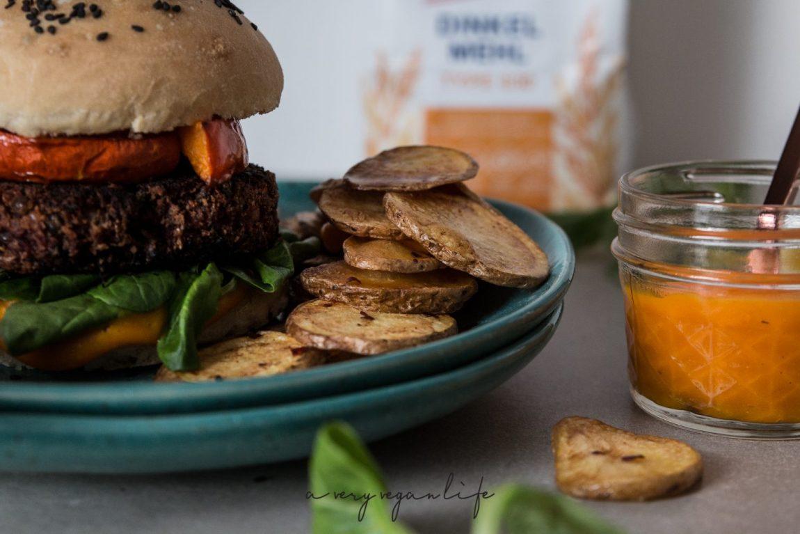 rote beete linsen burger mit waln ssen und k rbisketchup a very vegan life. Black Bedroom Furniture Sets. Home Design Ideas