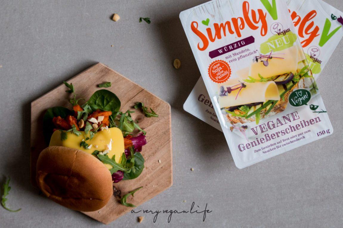 Burger mit Simply V Genießerscheiben