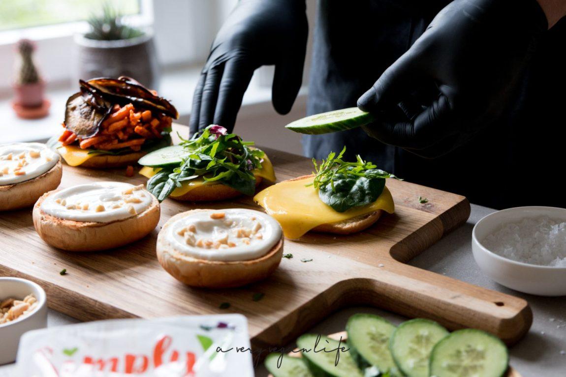 Zubereitung vegane Burger