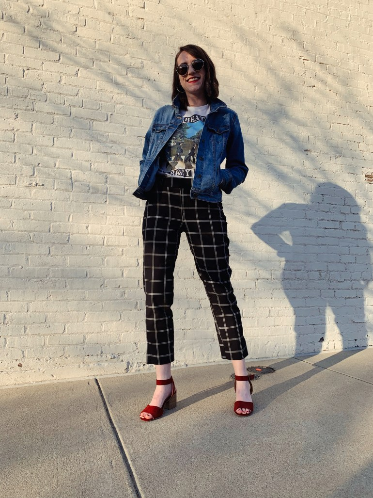 how to wear plaid pants