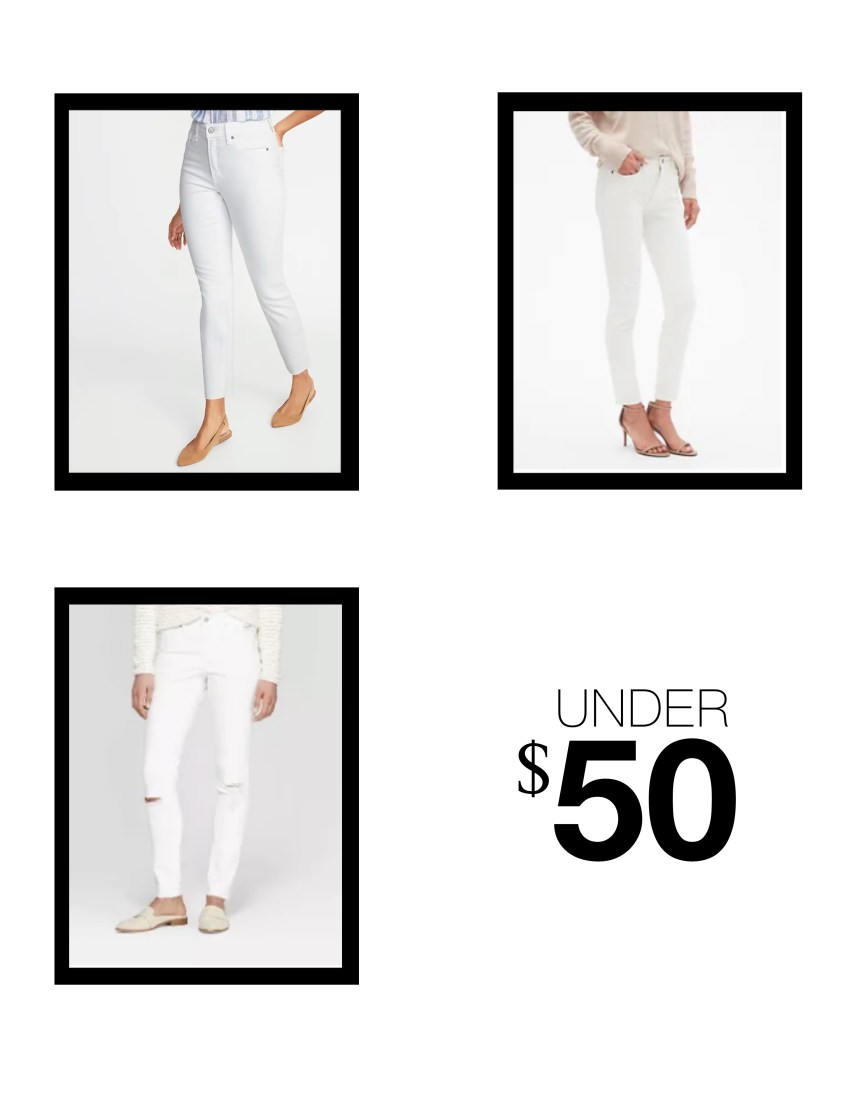 the best white jeans under $50