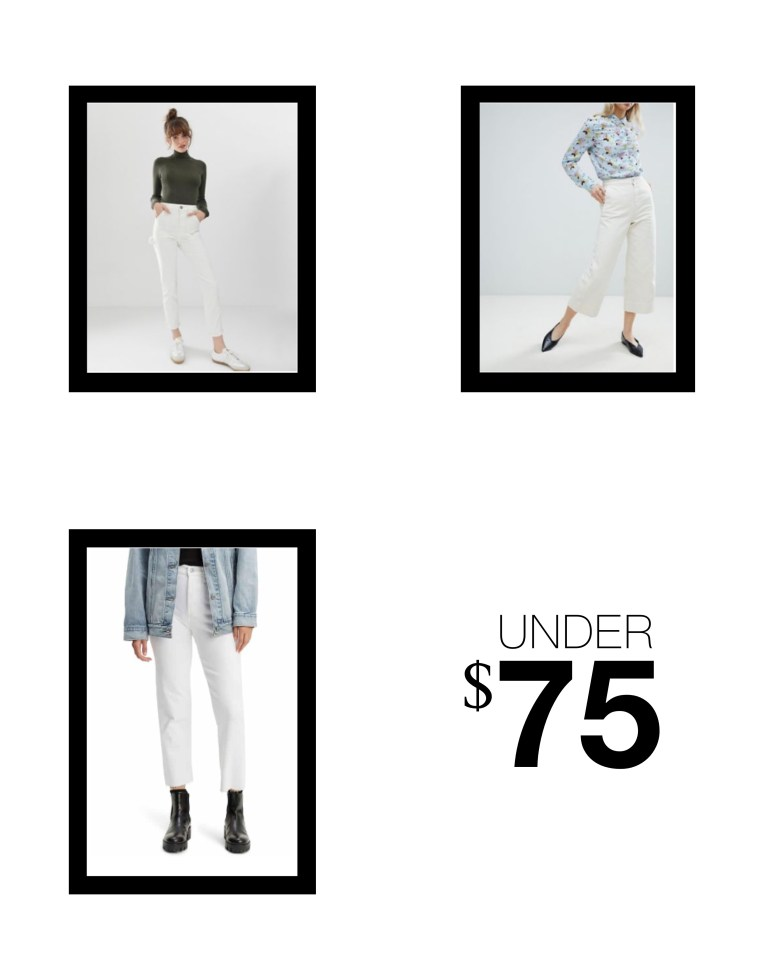 the best white jeans under $75