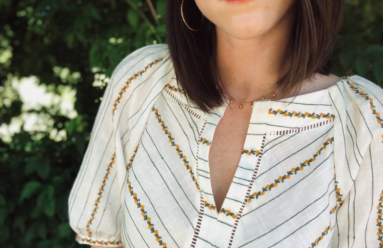 lemon print top anthropologie