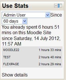 Moodle Use Stats