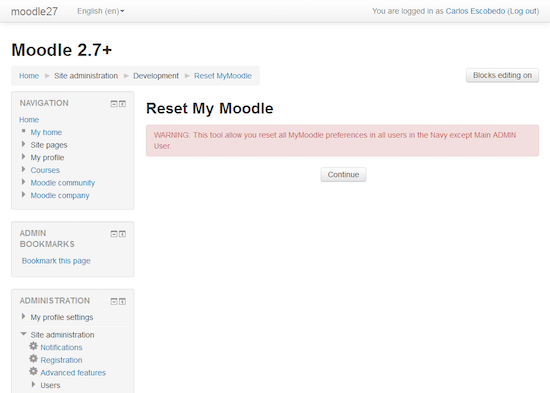 Reset My Moodle