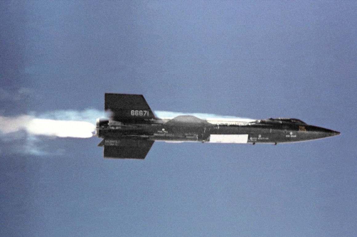 X-15 In Flight.