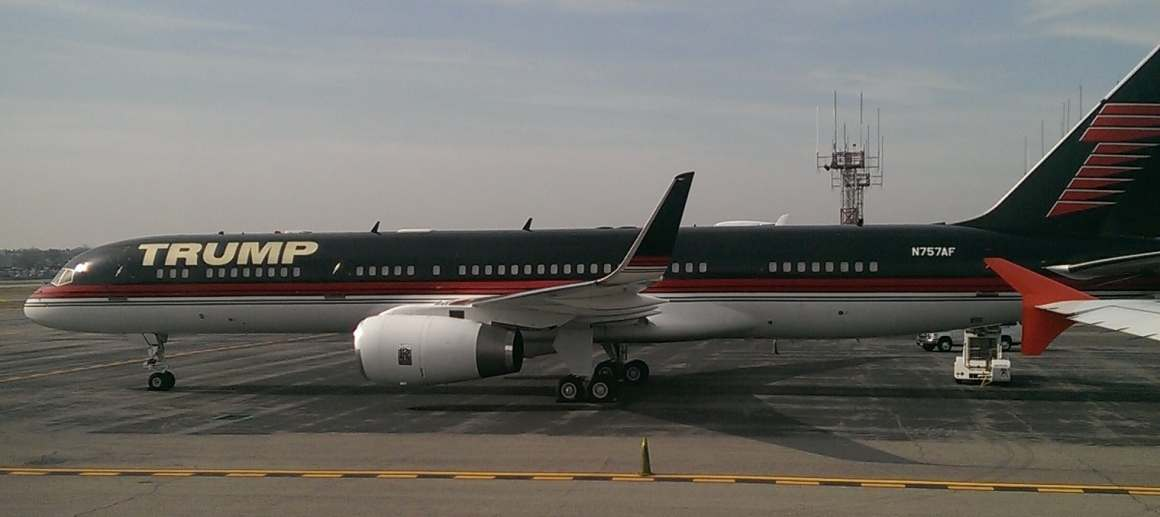 Donald Trump's 757 is not really configured as a presidential campaign aircraft.