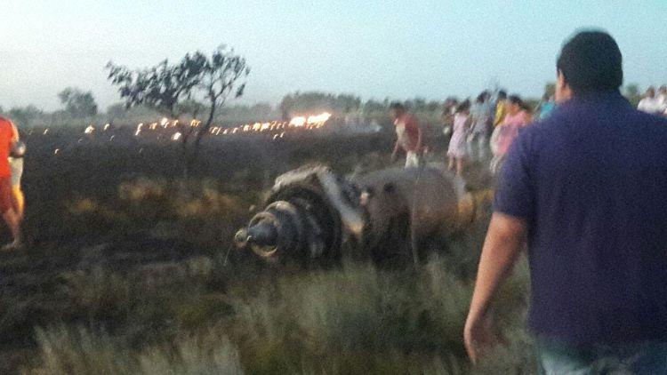 Impressions from the crash site (Photo: Aviación Comercial en Colombia)