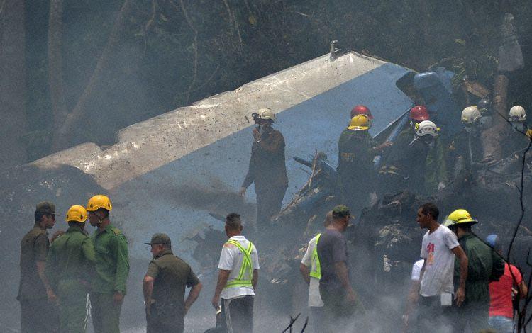 Escena en el sitio del accidente (Foto: AFP)