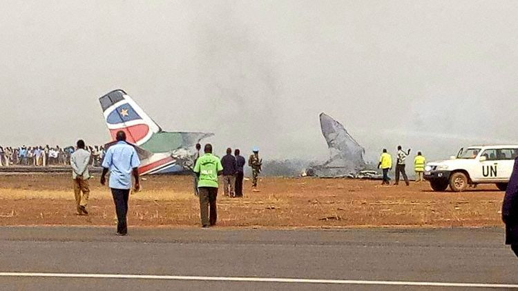 The accident aircraft at Wau Airport (Photo: Bull Maliik)