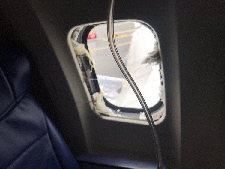 La ventana destrozada del pasajero (Foto: Matt Tranchin)