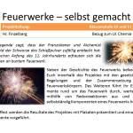 Plakat fuer die AvH Projektwoche Thema Feuerwerke - selbst gemacht
