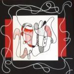 Zeichnung schwarz-weiß-rot