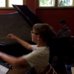 Während einer Probe der Swing Band