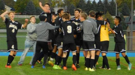 Men's Soccer Clinches State Berth in OT Win
