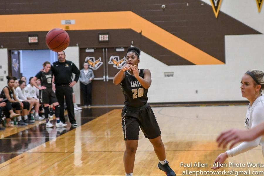 Sophomore guard Chyna Young is one of the Eagles' top young players.