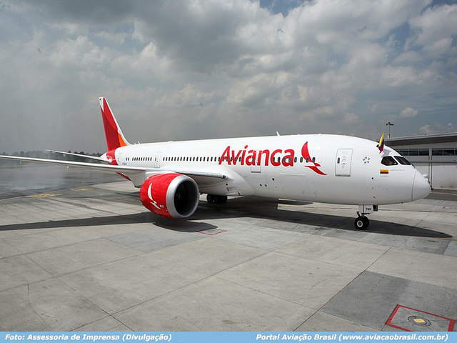 , 787 da Avianca começa operações na América do Sul, Portal Aviação Brasil
