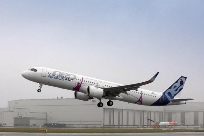 Airbus A321LR completa seu primeiro voo