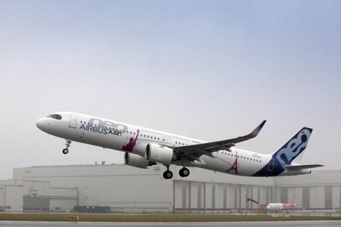 Airbus; Airbus A321LR;, Airbus A321LR completa seu primeiro voo, Portal Aviação Brasil