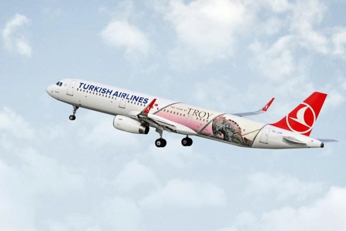 """Turkish Airlines, Turkish Airlines apresenta Airbus A321 em homenagem ao tema """"troia"""", Portal Aviação Brasil"""
