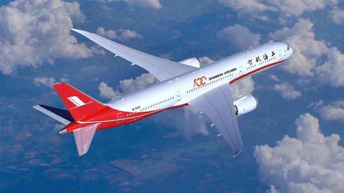 Shanghai, Shanghai Airlines recebe seu primeiro Boeing 787, Portal Aviação Brasil