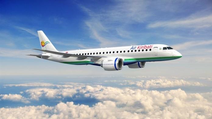 , Embraer assina contrato com Air Kiribati para até 4 jatos E190-E2, Portal Aviação Brasil
