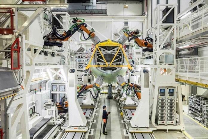 Airbus inaugura em Hamburgo nova linha de montagem da estrutura do A320