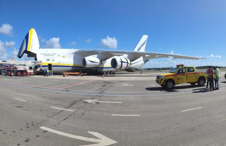 Salvador recebe pouso de gigante cargueiro russo