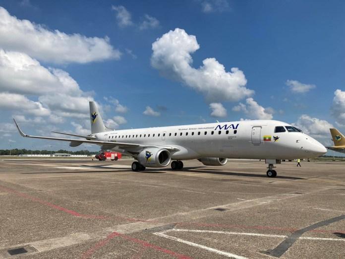 Embraer entrega novos jatos para a Myanmar e Belavia