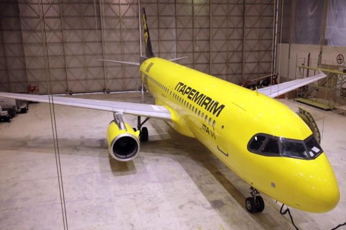 Itapemirim recebe sua terceira aeronave Airbus A320
