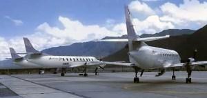 Aeronaves de American Jet en el aeropuerto Chapelco (Foto: Prensa S. M. Andes)