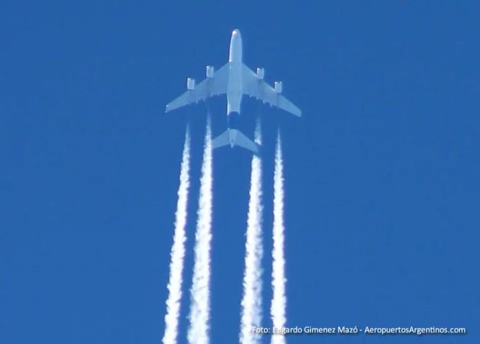 Airbus A380 sobre Resistencia