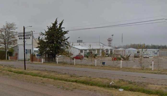 Aeropuerto de Malargüe (Foto captura Google Street View)