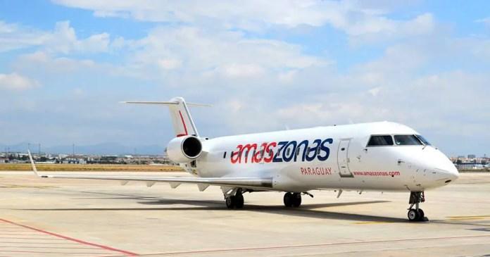 CRJ 200 de Amaszonas del Paraguay (Foto: Amaszonas)