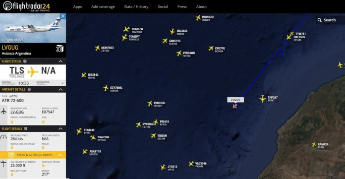 Avianca Argentina - ATR 72-600 LV-GUG FlightRadar