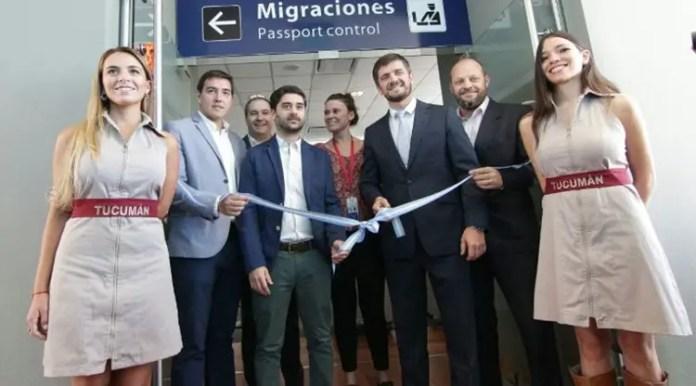 Tucumán - vuelo inaugural LATAM SCL Giobellina