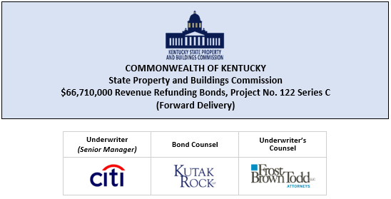 THIS OFFICIAL STATEMENT UPDATES THE OFFICIAL STATEMENT DATED OCTOBER 8, 2019 RELATING TO $66,710,000 COMMONWEALTH OF KENTUCKY STATE PROPERTY AND BUILDINGS COMMISSION REVENUE REFUNDING BONDS, PROJECT NO. 122 SERIES C (FORWARD DELIVERY) POSTED 4-22-20