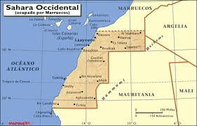 Mapa Sahara Ocidental