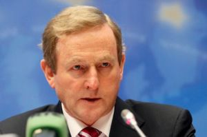 Ireland's Prime Minister Enda Kenny addresses a news conference after an European Union leaders summit in Brussels