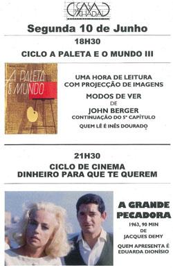 Ciclo A Paleta e o Mundo + Ciclo de Cinema