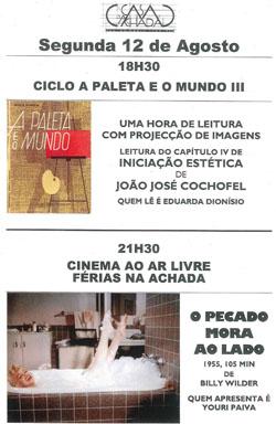 Ciclo A Paleta eo Mundo III + Cinema ao Ar Livre