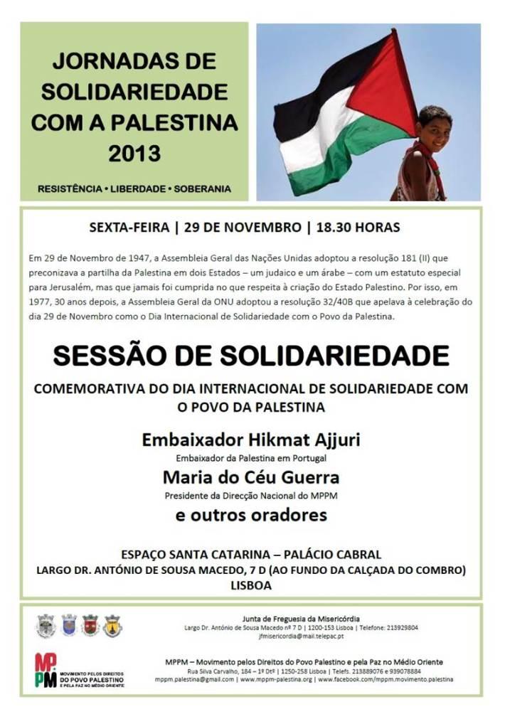MPPM - jornada de solidariedade com a palestina