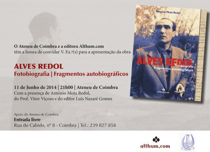 Fotobiografia Redol -  Convite Coimbra_11-06-2014
