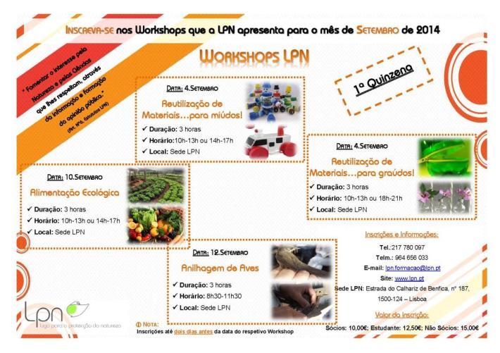 workshops - setembro 2014