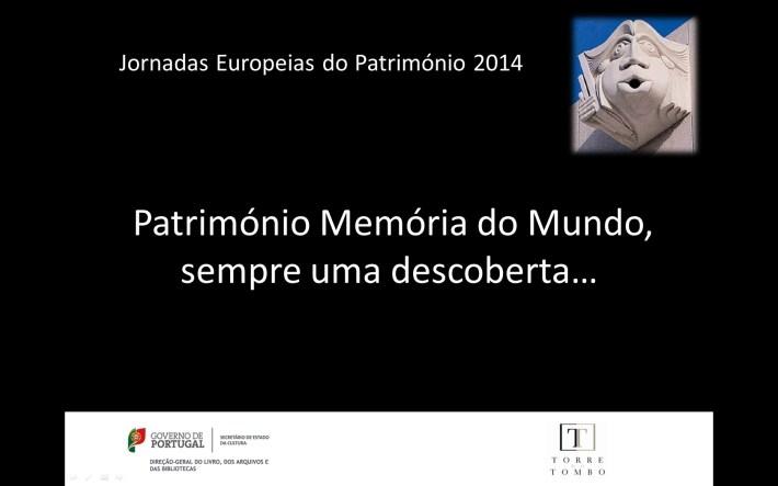 Imagem JEP 2014 Património Descoberta