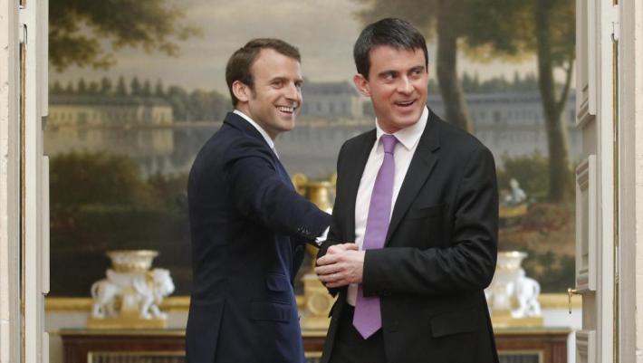 Macron e Valls