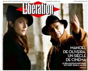 Manuel de Oliveira jornal Liberation 2015_04_03
