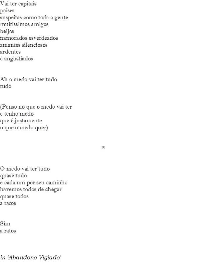 O poema pouco original do medo - II