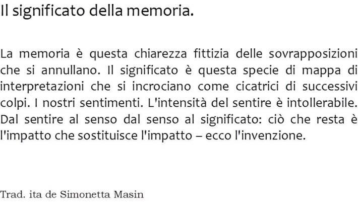 Il Significato della Memoria